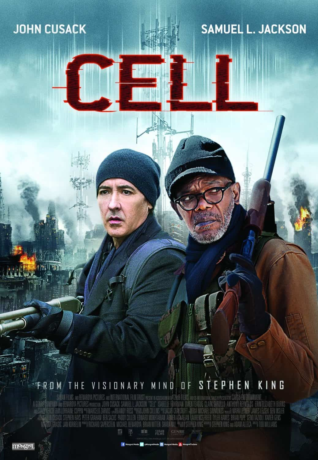Horror Movie Review: Cell (2016)